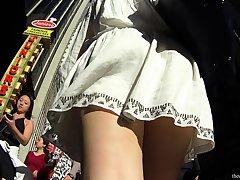 Roxy Redheads Upskirt Masturbation And Bush-league Bbw In Voyeur