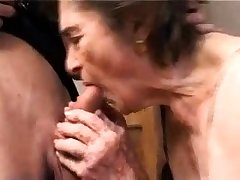 OldNanny Chubby granny added to old granny masturbating