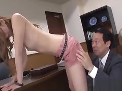 Pretty Teacher Gets Hairy Cunt Fingered While Sucking Dick