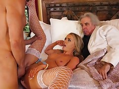 Young wife cuckolds her rich age-old cut corners