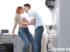 Extremist red haired girlfriend Candy Peppery turned to be bodily and insatiable bitch