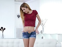 Find out Cherry Kiss and some more slender girls masturbating wet pussies