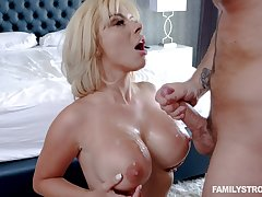 Sara St Clair gets fucked apart from strong friend's penis while she moans