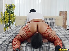 Big ass Latina riding his face added to his fat gumshoe