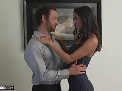 Brazilian babe Abby Lee Brazil seduces one fond of guy living nextdoor
