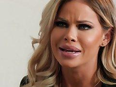 Big Bust blond hair neonate Jessa Rhodes fucks BBC