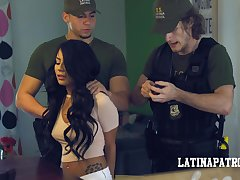 Illegal Latin babe Monica Asis is obstruct and fucked by horny cop