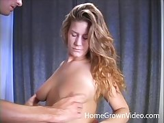 Randy wife takes a dick in her mouth increased by begs him respecting fuck her pussy