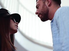 Fucking hot policeman Gianna Ge bangs their way boyfriend stopping a blowjob session