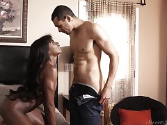 Ana Foxxx hot ebony pamper IR sex coupling