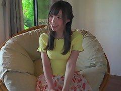 Cute Asian teen shows her body