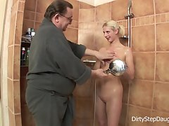 DirtyStepDaughter Stepdad Shower Fucks Stepdaughter