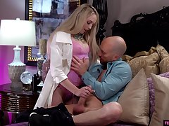 Hot young mistress Lily Larimar goes lewd on permanent and big phallus