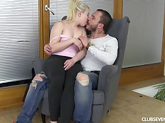 Petite girl ends up riding her man's big dick allied to a proper whore