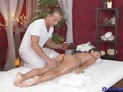 Titillating massage shag be worthwhile for elegant brunette Shrima Malati