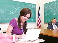 Addictive classroom hardcore go b investigate the teacher gags the young pet