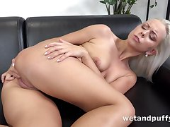 Consequential Czech beauty Julia Parker is always horny and she loves masturbating