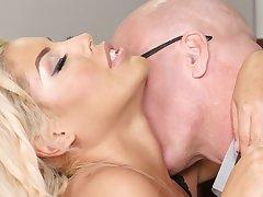 Busty festival secretary gets cum on tits contain sex - Bridgette B.
