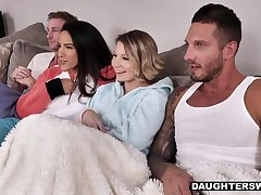 Daughters Swapped together with Banged in their Cute Onesies
