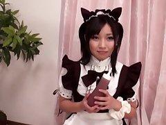 Closeup video of ardent shafting with kinky model Shiozaki Ai