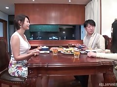 Creampie ending after passionate going to bed with adorable Takigawa Yunoka