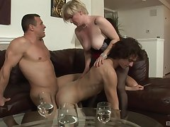 Needy action for a pair for bi-sexual lovers and a mature