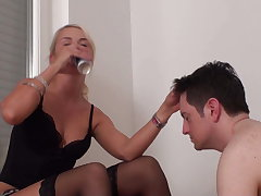 Princess Paris enjoys spit in resulting Bobby's face